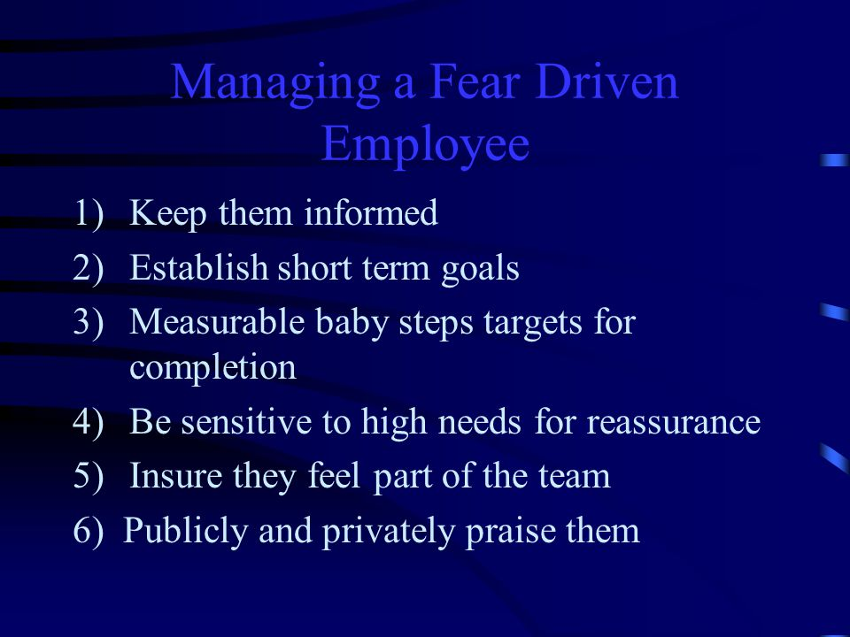 The Productive Person Works from a base of security in their abilities Uses change to increase own productivity Trusts leadership Knows they are part of the team Believes their contribution matters