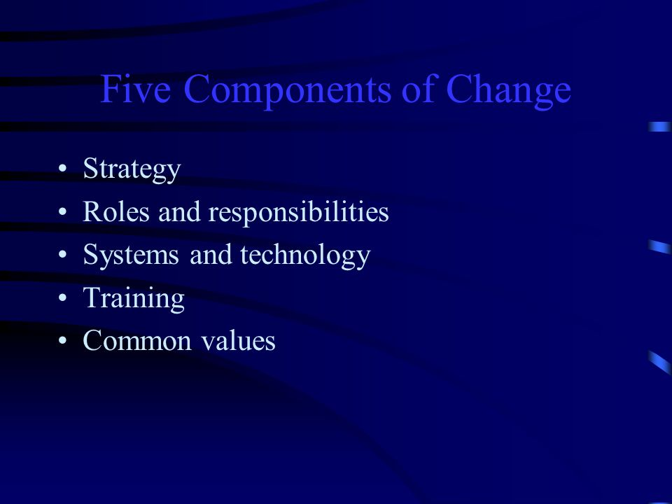 Change: It's Not All Bad Change can present excellent opportunities…or serious challenges!