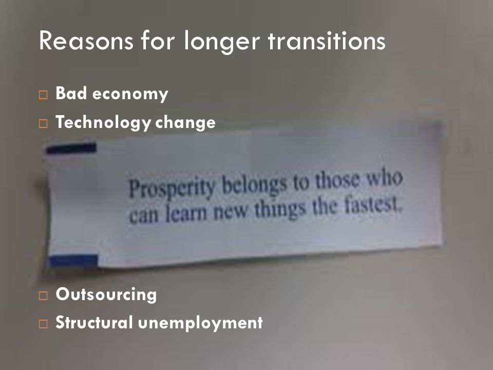  How do we take advantage of this transition opportunity?