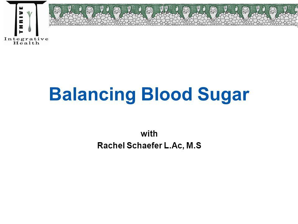 Balancing Blood Sugar with Rachel Schaefer L.Ac, M.S