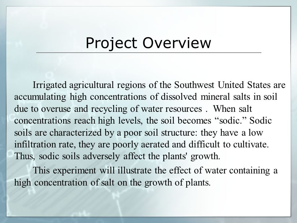 Research Soils that contain a harmful amount of salt are often referred to as salty or saline soils.