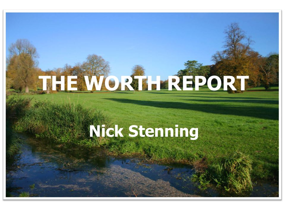 Picture of Hampshire to go in background THE WORTH REPORT Nick Stenning