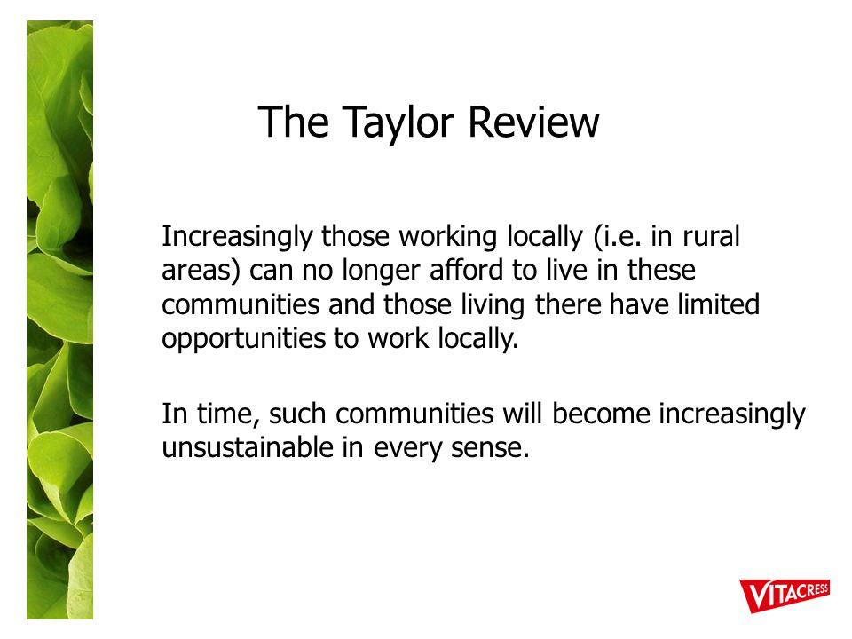Increasingly those working locally (i.e.