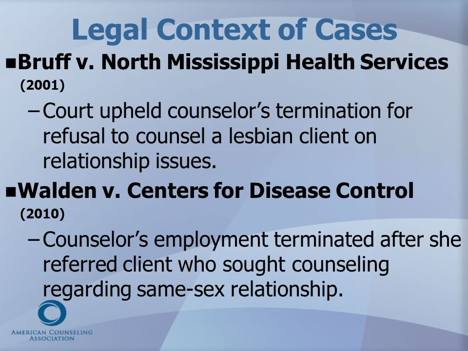 Judge's opinion Referrals are taught to be a last resort…EMU could not confer a counseling degree on a student who said she would categorically refer all clients who sought counseling on topics with which she had contrary moral convictions.