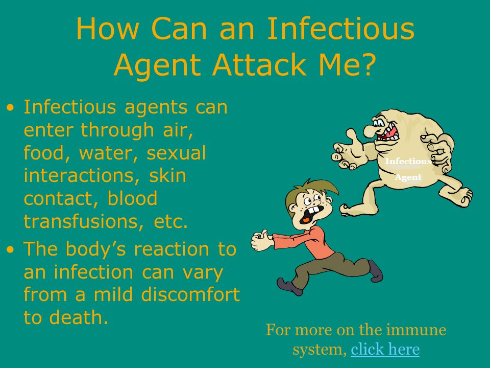 How Can an Infectious Agent Attack Me.
