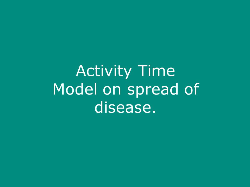 Activity Time Model on spread of disease.