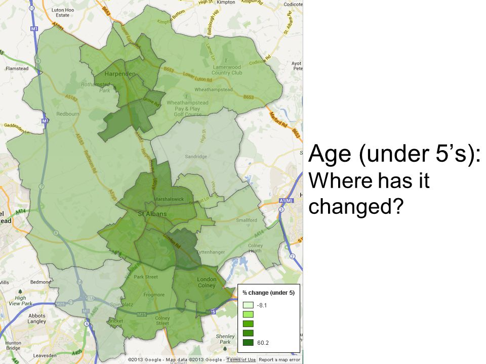 Age (under 5's): Where has it changed