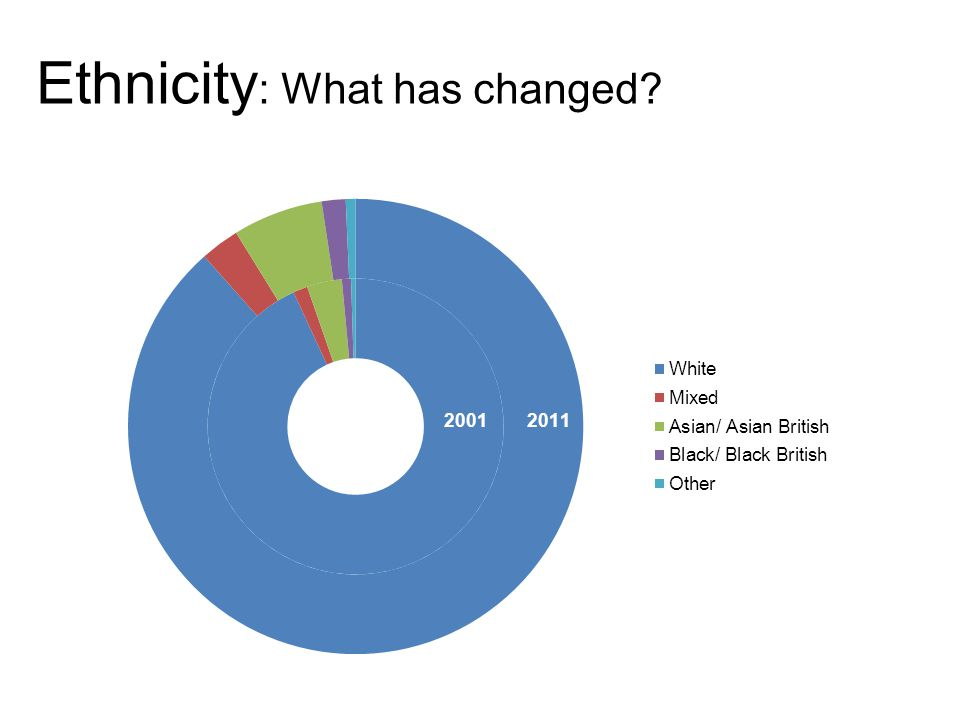 Ethnicity : What has changed
