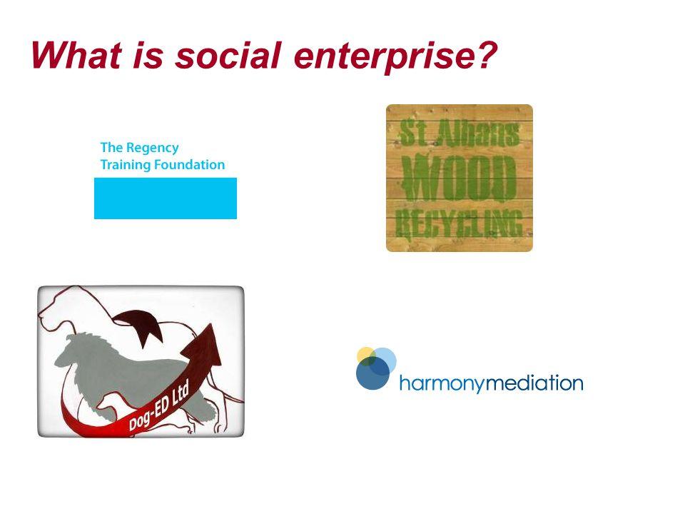 What is social enterprise