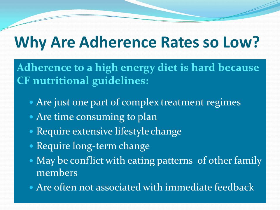 Why Are Adherence Rates so Low.