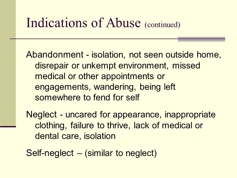 Scope of the Problem estimates of the occurrence of elder abuse vary widely— due in part to the variability in the definitions used to measure and report abuse mistreatment of adults, including abuse, neglect, and exploitation, affects more than 1.8 million older Americans (Pavlik, Hyman, Festa, Bitondo, and Dyer, 2001, p.