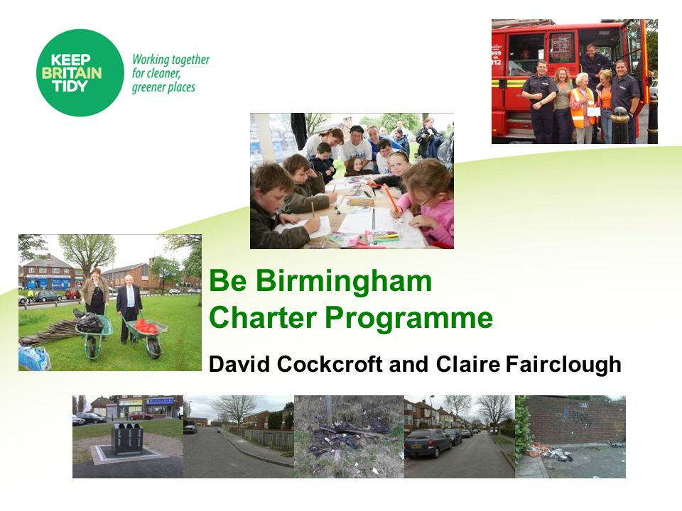 The Charter – Refresh A robust, voluntary agreement which sets out the mutual rights, responsibilities and expectations between residents, social landlords and other service providers for creating a clean, safe and green neighbourhood.
