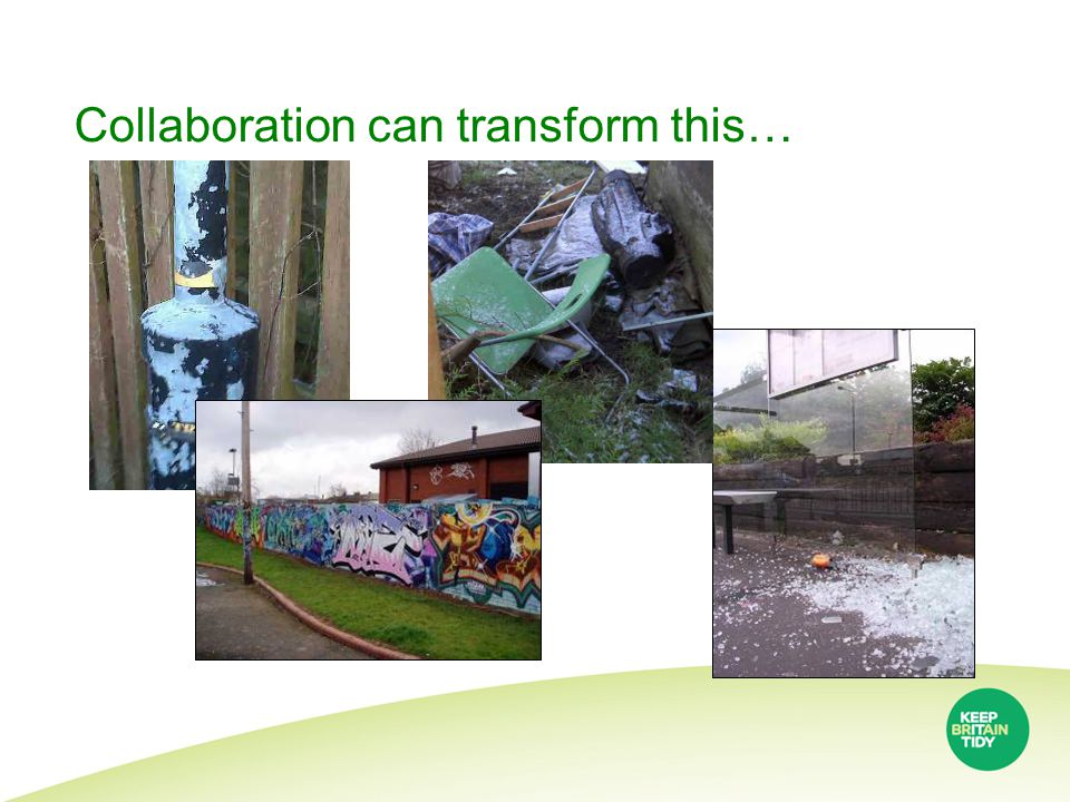 Collaboration can transform this…