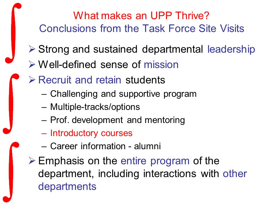 What makes an UPP Thrive.