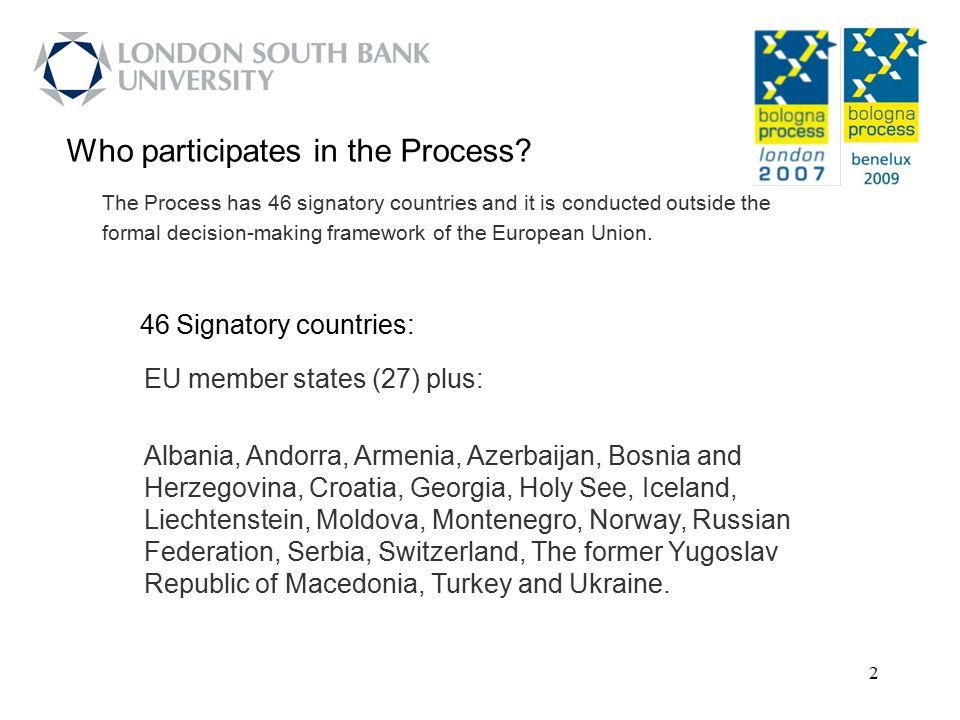 33 Source: Bologna Process Stocktaking Report 2009