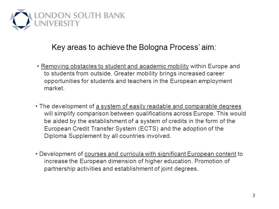 34 Source: Bologna Process Stocktaking Report 2009