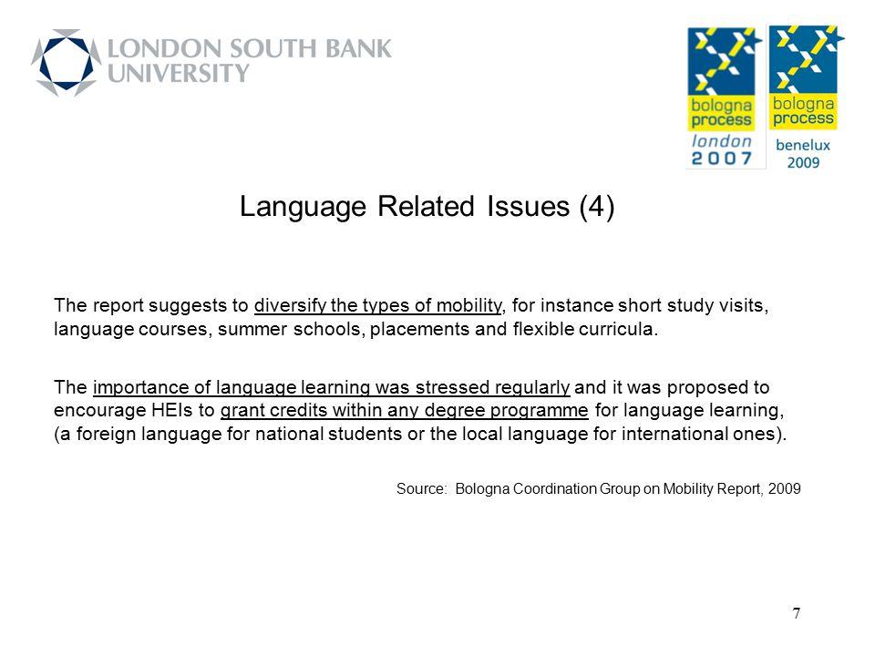 28 Source: Bologna Process Stocktaking Report 2009