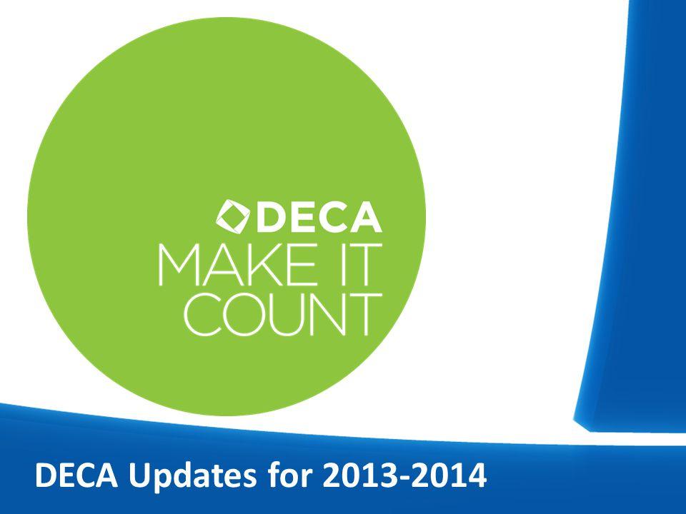 DECA Updates for 2013-2014