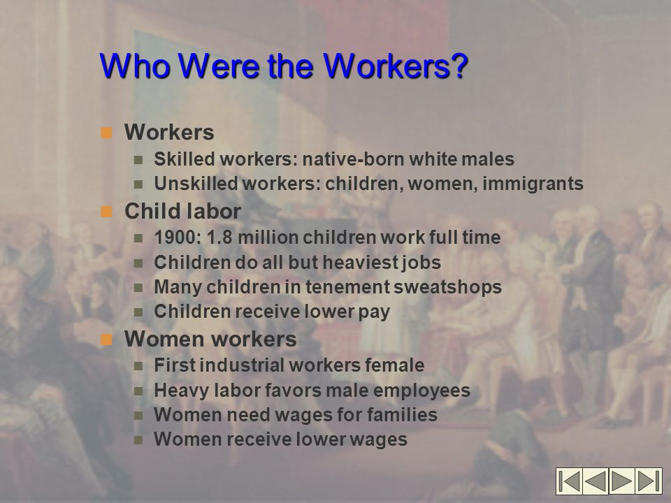 Who Were the Workers.
