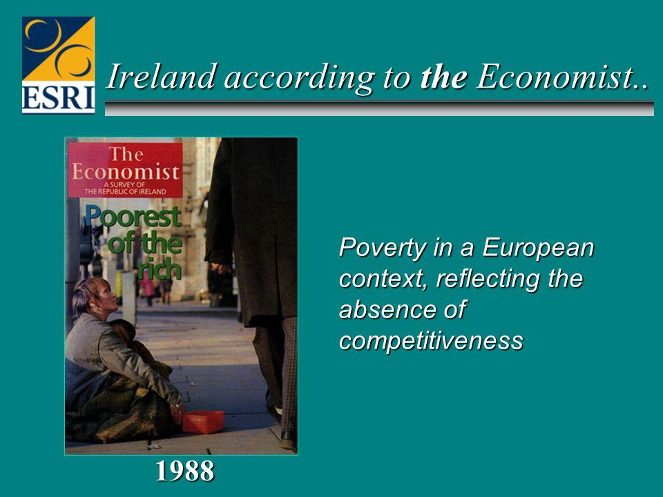 MAY 1997 1988 Ireland according to the Economist..