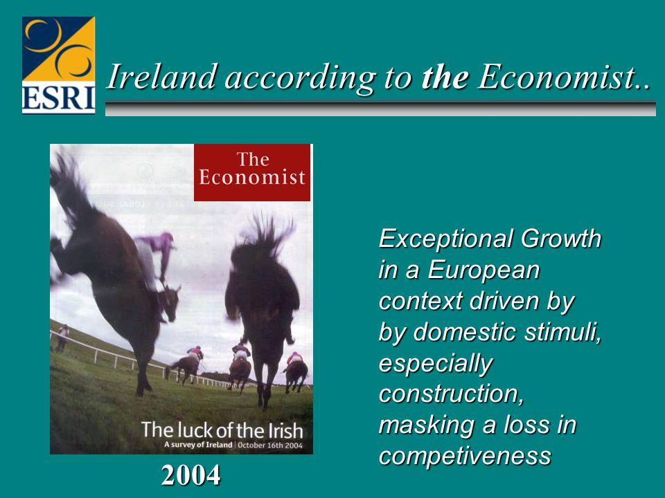 Ireland according to the Economist..