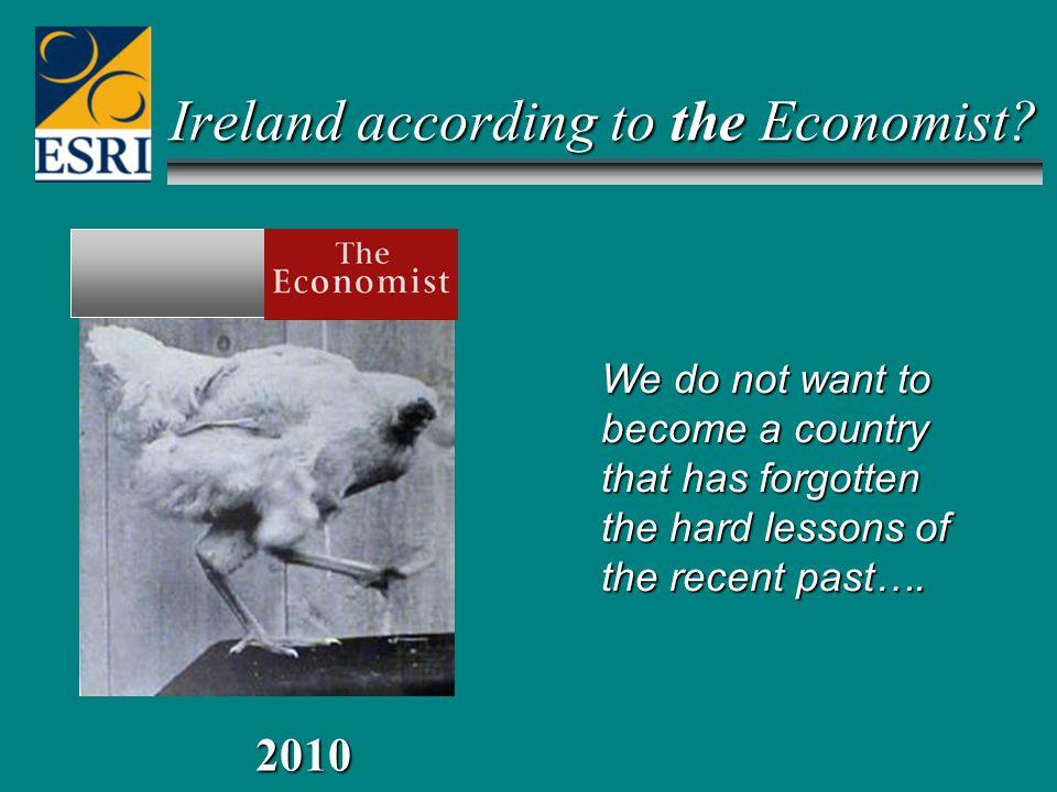 Ireland according to the Economist.