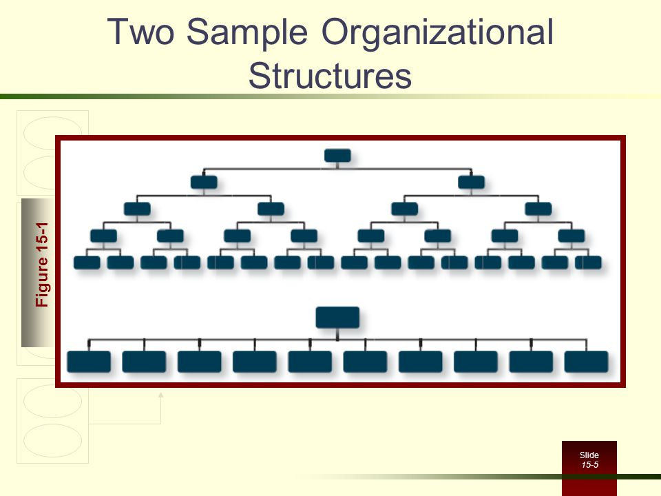 Slide 15-5 Two Sample Organizational Structures Figure 15-1