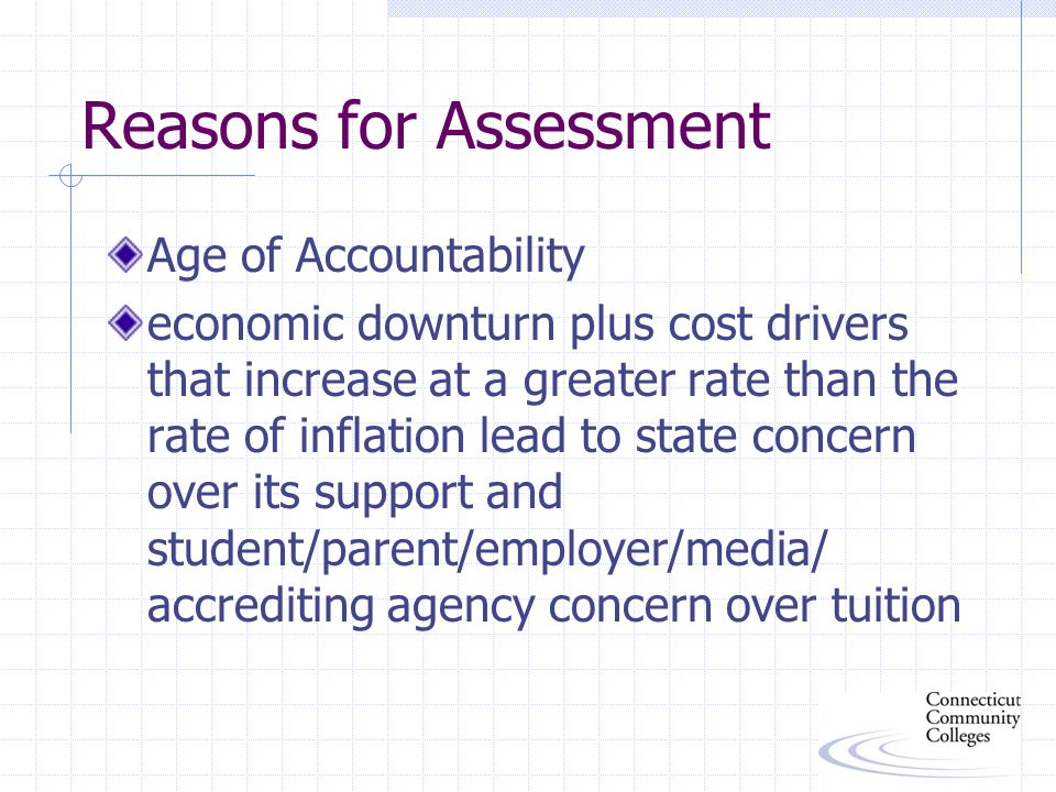 Assessing Student Learning and Development Outcomes not appropriate for strictly service areas takes into account prior characteristics, knowledge, perceptions, etc.