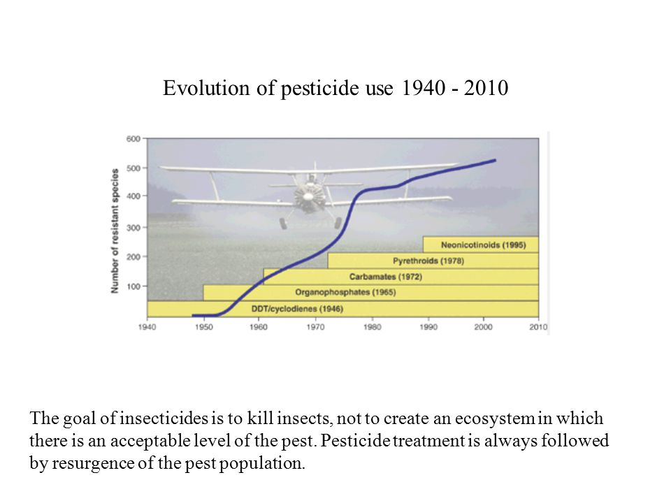 The goal of insecticides is to kill insects, not to create an ecosystem in which there is an acceptable level of the pest.