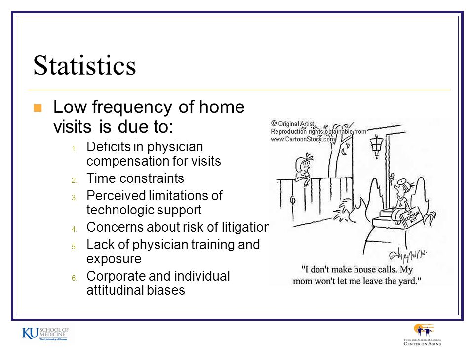 Statistics Low frequency of home visits is due to: 1.
