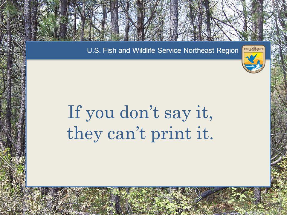 U.S.Fish and Wildlife Service Northeast Region 1)How.