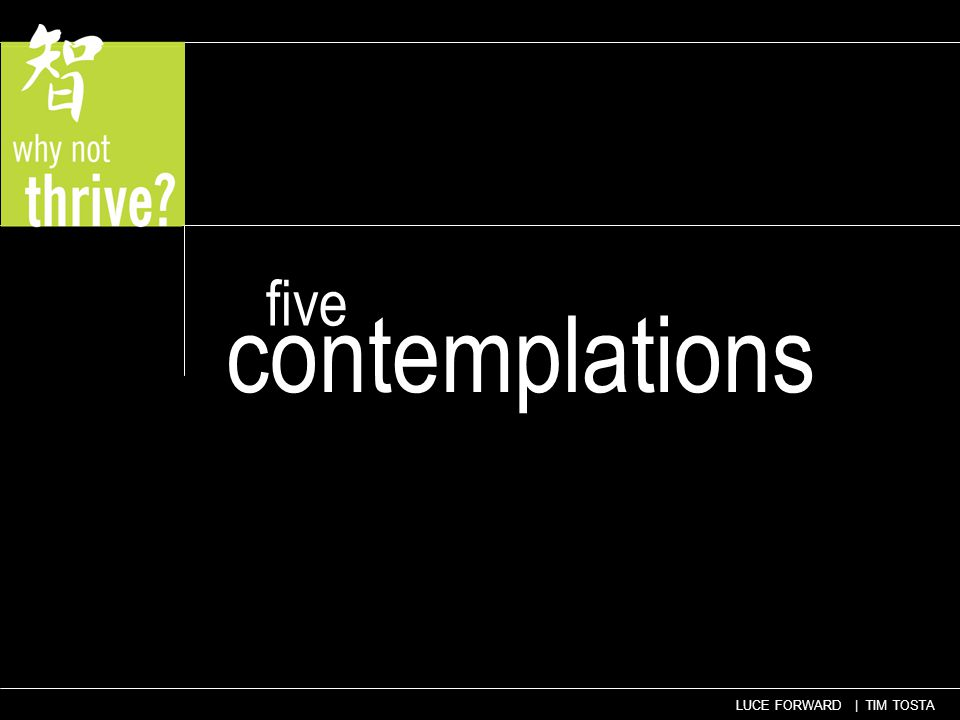 five contemplations
