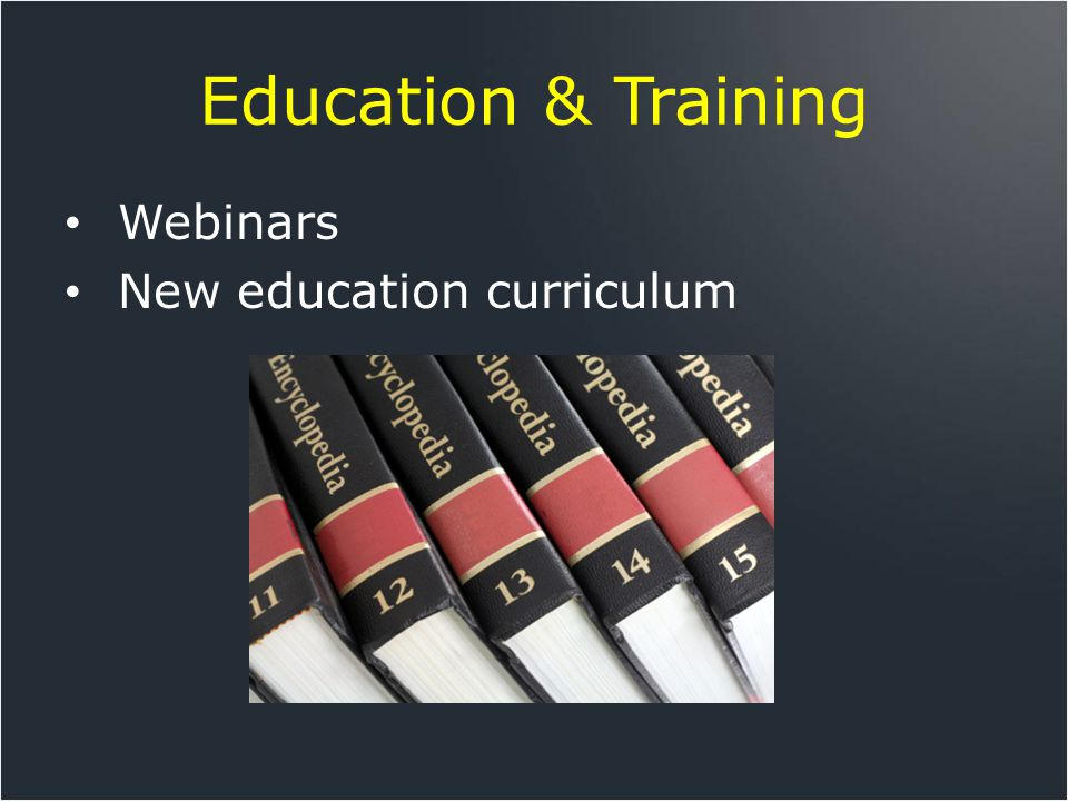 Education & Training Webinars New education curriculum