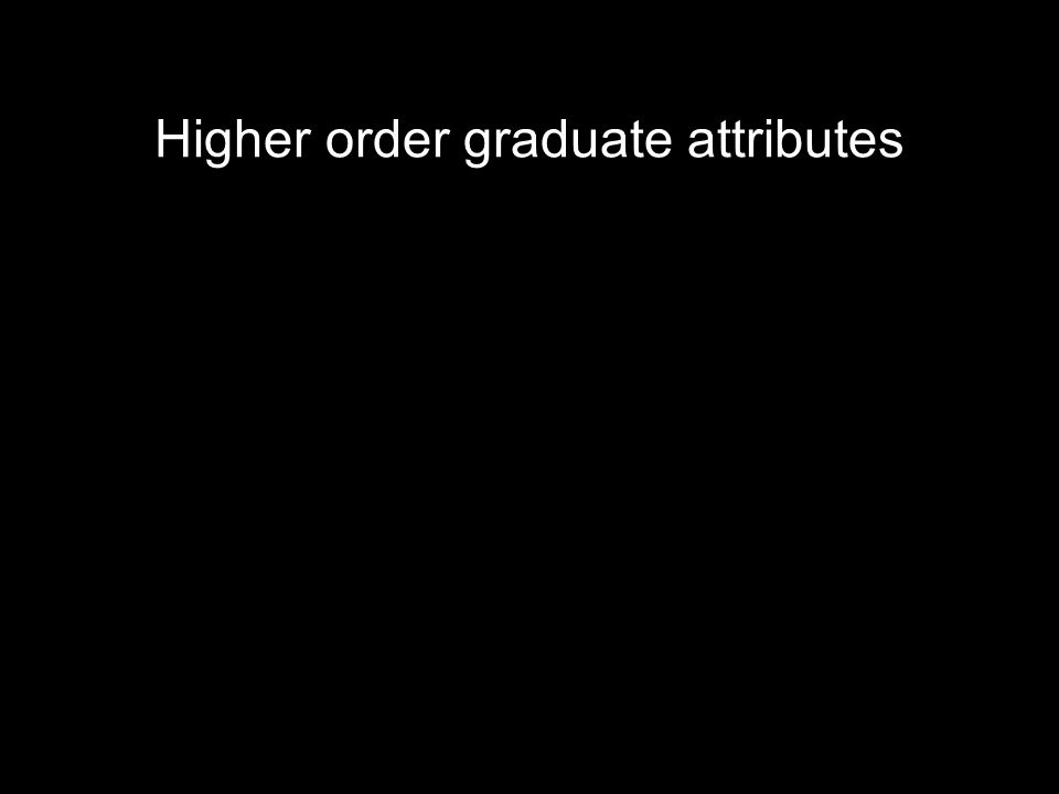 Higher order graduate attributes