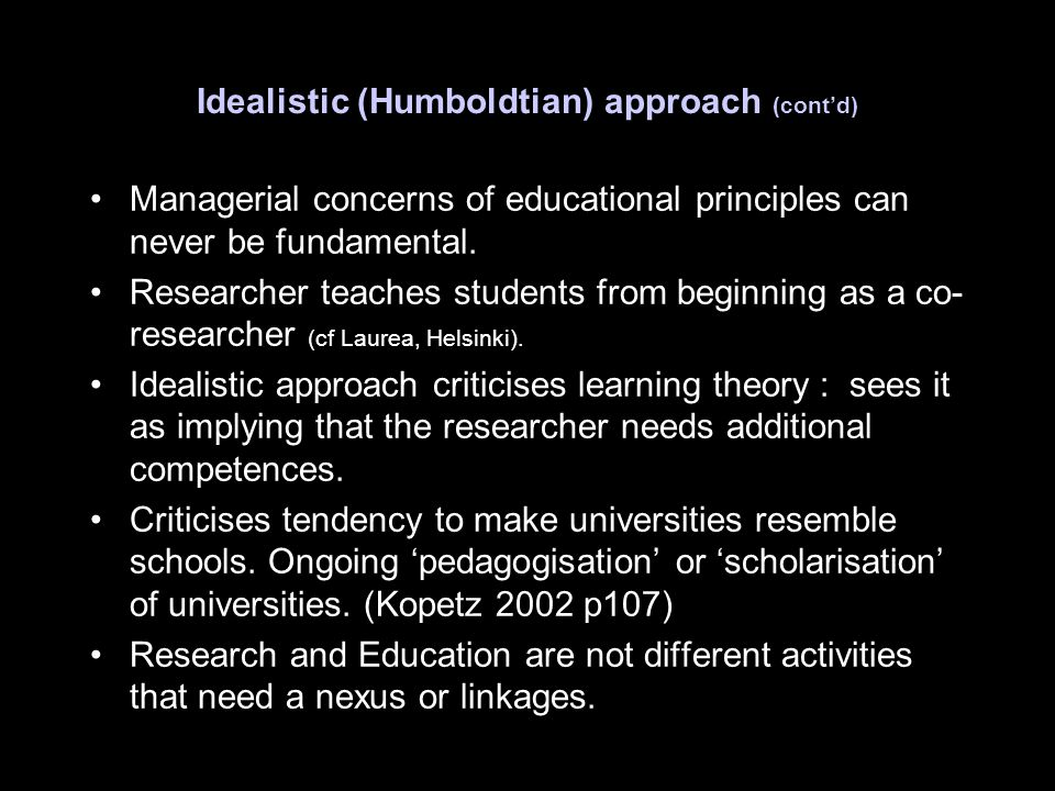 Managerial concerns of educational principles can never be fundamental.