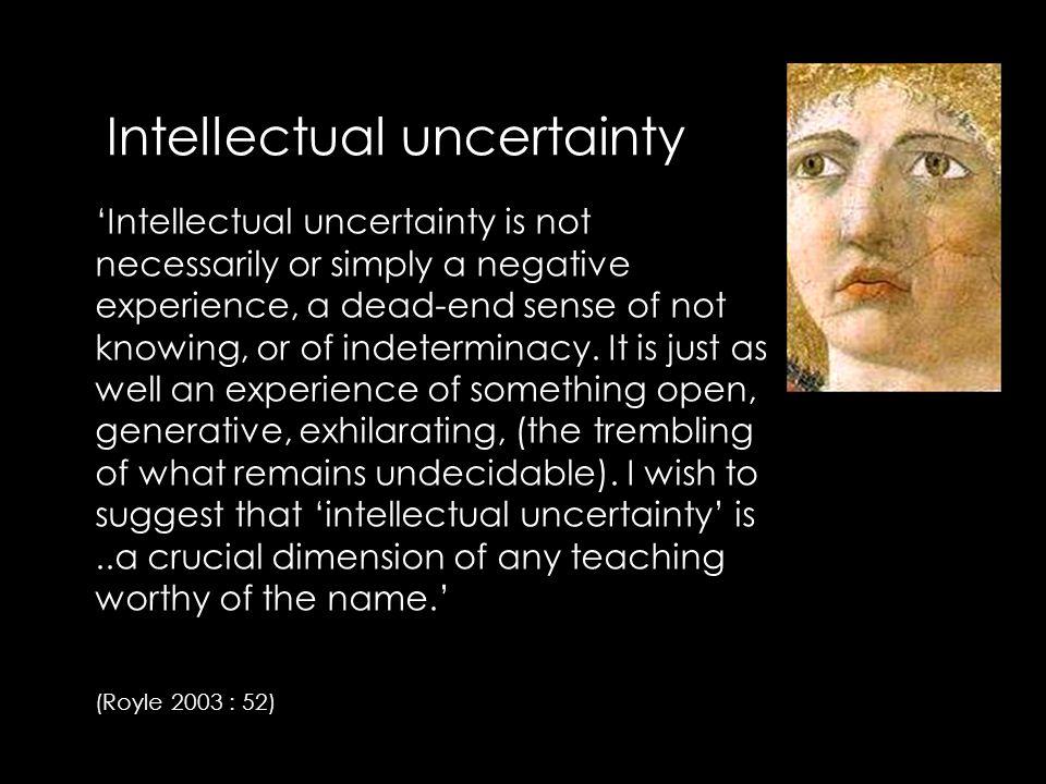 Pedagogies of uncertainty it s...