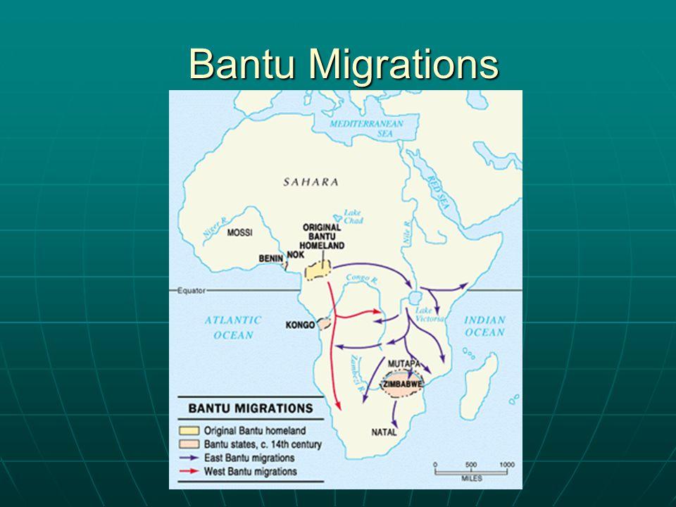 Bantu Migrations Bantu Migrations