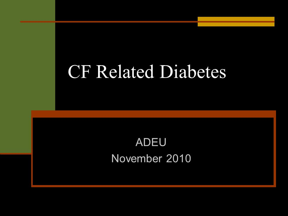 CF Related Diabetes ADEU November 2010