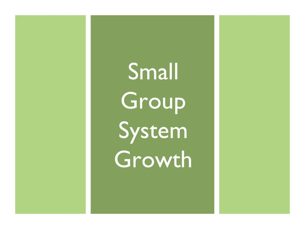 Small Group System Growth