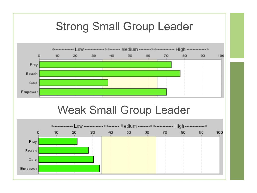 Strong Small Group Leader Weak Small Group Leader