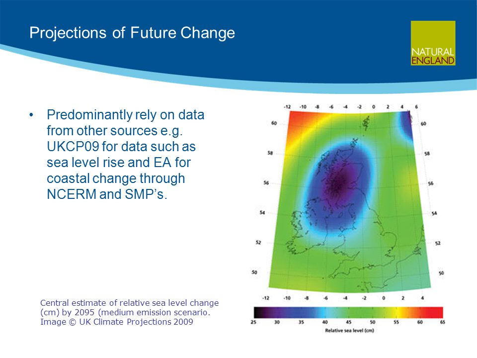 Projections of Future Change Predominantly rely on data from other sources e.g.