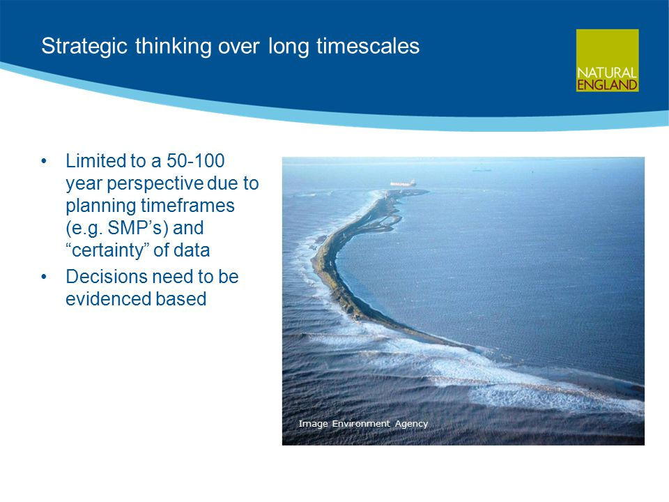 Strategic thinking over long timescales Limited to a 50-100 year perspective due to planning timeframes (e.g.