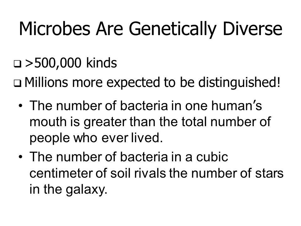 Microbes are abundant!