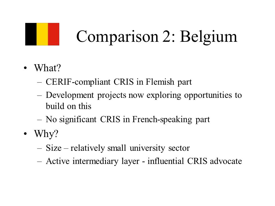 Comparison 2: Belgium What.