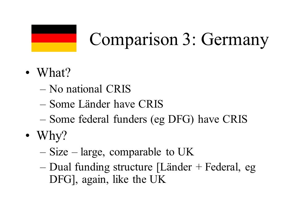Comparison 3: Germany What.