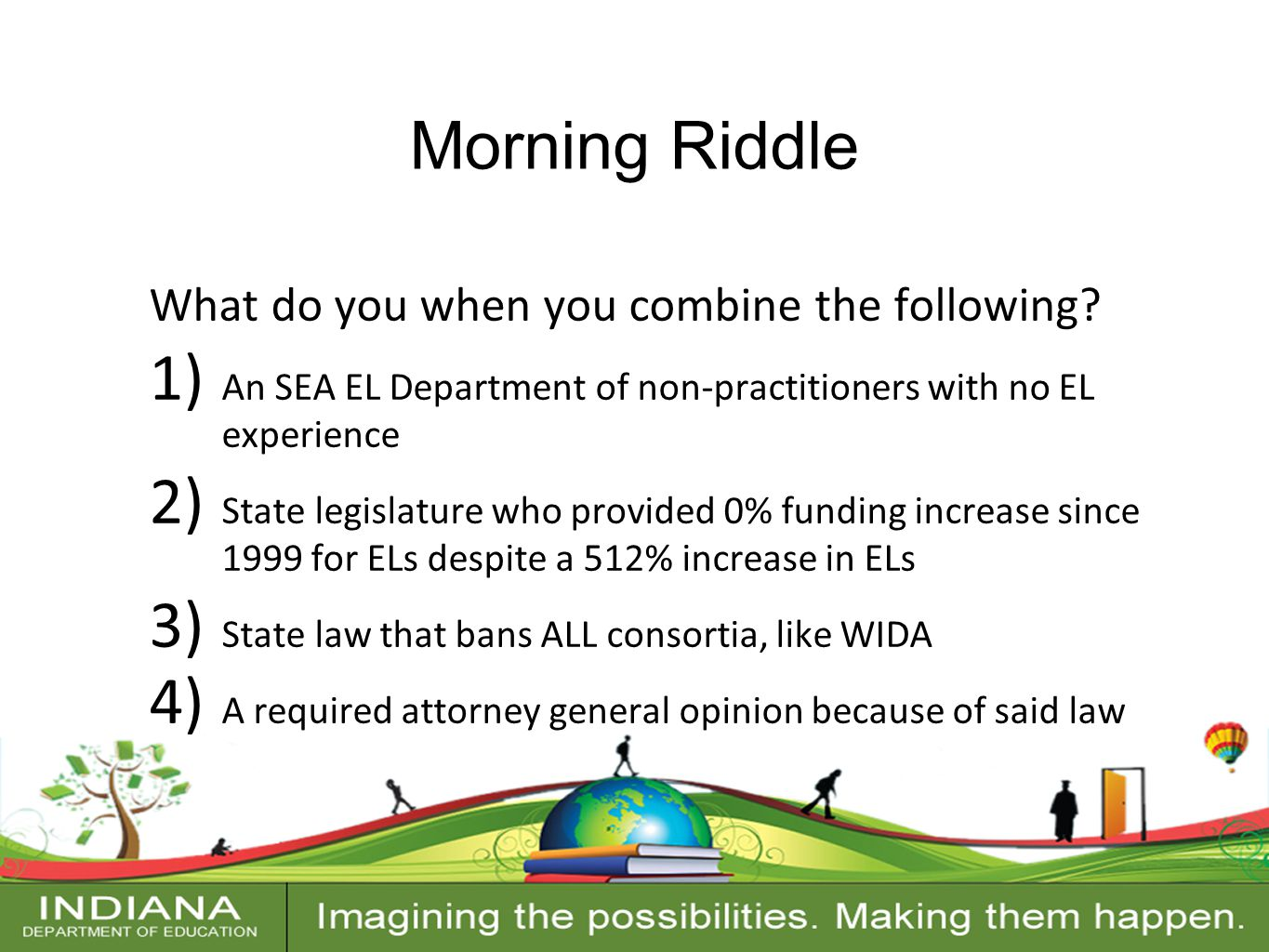 Contact Information Morning Riddle What do you when you combine the following.