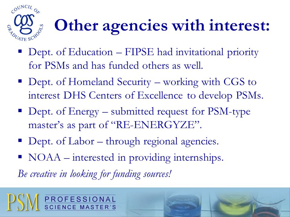 Other agencies with interest:  Dept.