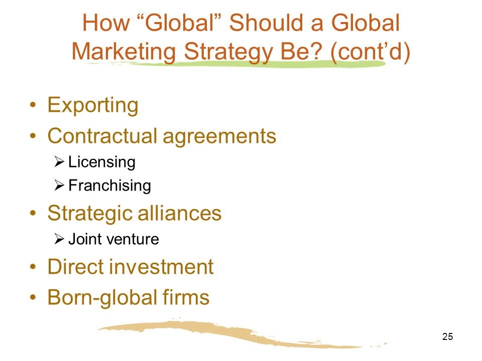 25 How Global Should a Global Marketing Strategy Be.