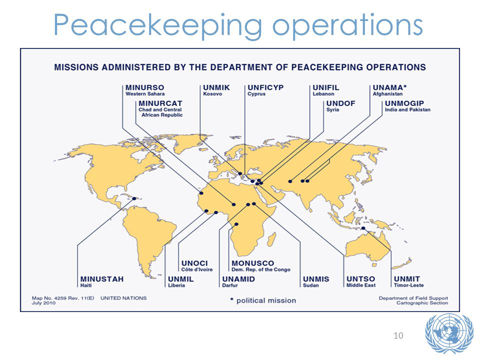 10 Peacekeeping operations