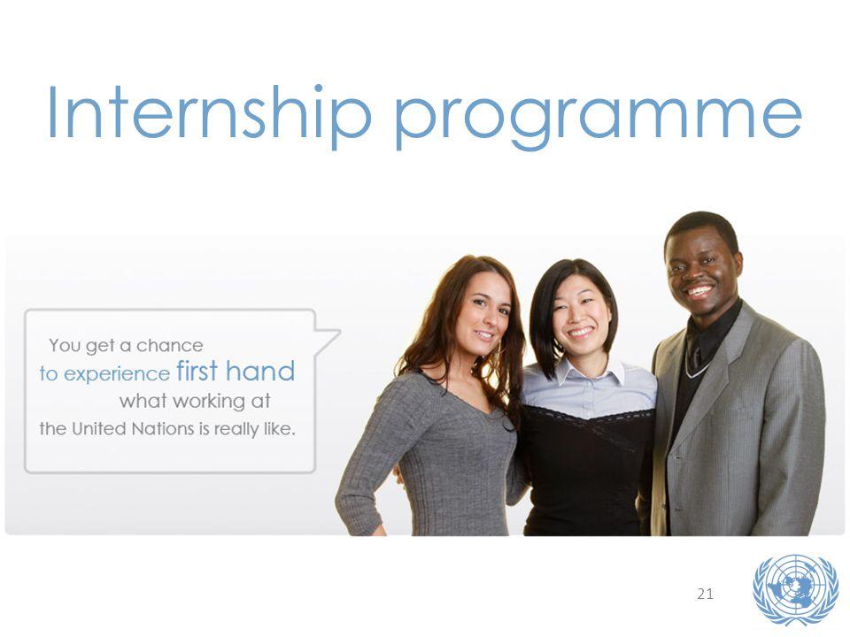 21 Internship programme